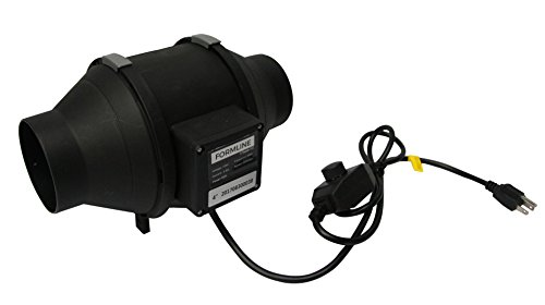- Formline Supply Quiet 4 inch Inline Duct Fan with Variable Speed Controller - 190 CFM Exhaust Blower Provides a Durable Low Noise Solution for Grow Tent Ventilation