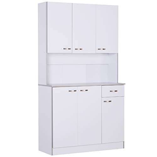 HOMCOM 71quot Modern Freestanding Kitchen Buffet Hutch with Server and Storage