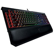 Razer BlackWidow Chroma V2, Clicky RGB Mechanical Gaming Keyboard, Ergonomic Wrist Rest - Razer Green Switches (Renewed)