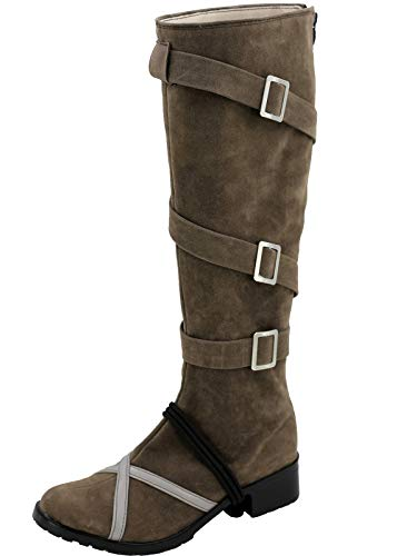 GOTEDDY Women's Guardian Cosplay Shoes Halloween Costume Knee Boots (4.5 B M US Female) -