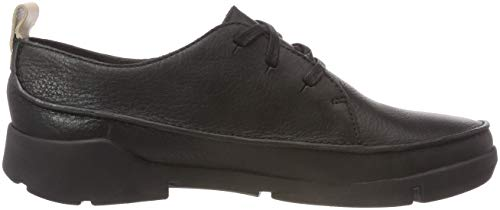 Clarks Zapatillas black Leather Negro Para Tri Clara Mujer rwnWqSErY