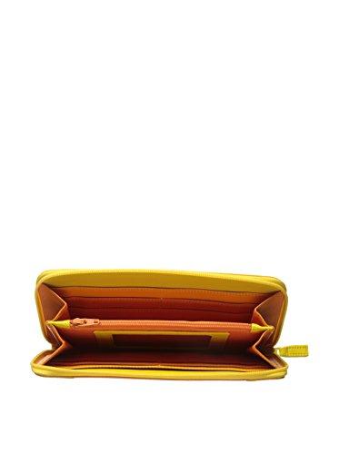 mywalit Zip Around Monedero piel 19 cm Amarillo
