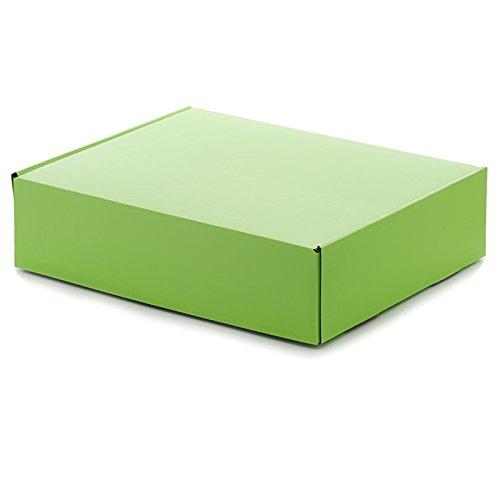 10ea - 7-1/2x7-1/2x3-1/4 Apple Green Corrugated Tuck Top Box-Pk | Width: 7 1/2