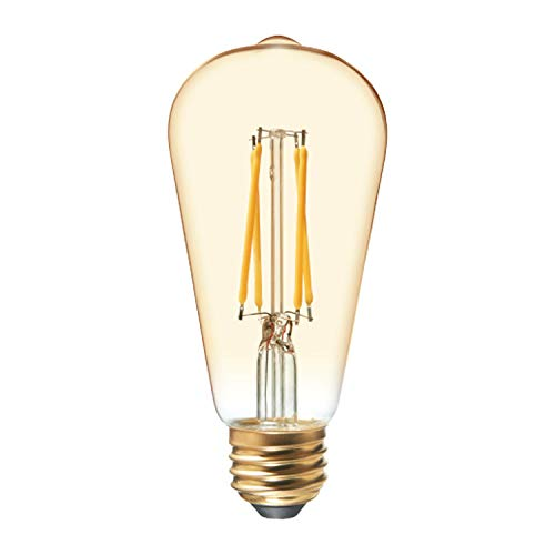 GE Lighting 36811 Clear Finish Light Bulb Dimmable LED Vintage Style ST19 3.5 (25-Watt Replacement), 200-Lumen Medium Base, 1-Pack, Warm Candle