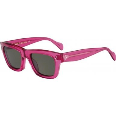 Celine 41732/S Sunglasses-0F51 Transparent Fuchsia (1E Green - Sunglasses Celine Butterfly
