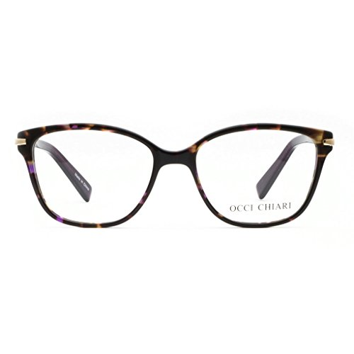 OCCI CHIARI Brand Quality Public Price Lightweight Eyewear Glasses Eyeglasses Frames Clear Lenses For Teenage Women (Purple, - Name Brand Glasses