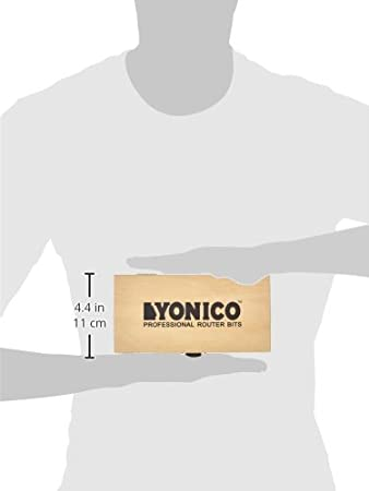 Yonico 13515 5 Bit Bullnose Router Bit Set with C3 Carbide Tipped 1//2-Inch Shank