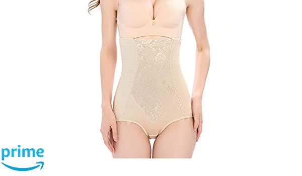 8308519ab4 Vlazom Body Shaper High Waisted Tummy Control Butt Lifter Pattern Shapewear  Cotton Slimming Briefs Waist Cincher for Women at Amazon Women s Clothing  store