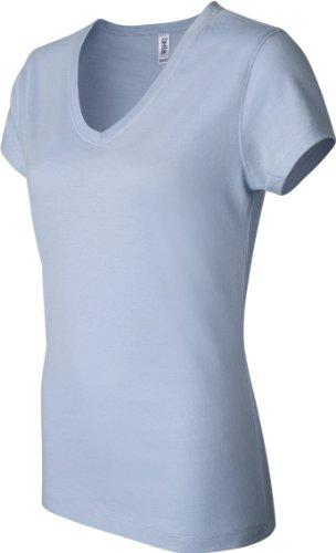 Bella + Canvas Camiseta de manga corta Jersey de cuello de la mujer Celeste (Baby Blue)