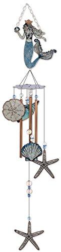 Sunset Vista Designs 92453 Mermaid Metal Wind Chime, Seashells Review