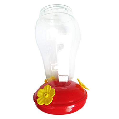 ❤Lemoning❤Wide Mouth Waist Hummingbird Feeder Free Nectar Patio Yard Window Bird Gift ()