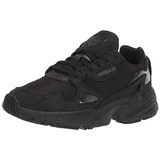 adidas Originals Women's Falcon Running Shoe, Black/Grey, 10.5 M US