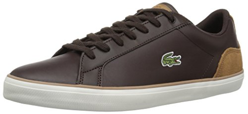 Lacoste Hombres's Lerond Sneakers Dkbrw / Ltbrw Leather