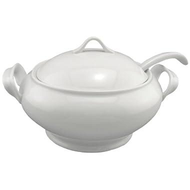 BIA Cordon Bleu Lyon Collection 3-Piece Soup Tureen Set with Ladle, White