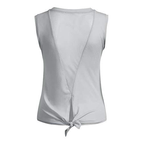 be912a199 Women's Yoga Tank Top Open Back Tops Sports Racerback Tank Top Elastic  Sleeveless T-Shirt