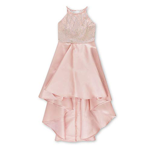Speechless Girls' Big 7-16 High-Low Halter Formal Dance and Party Dress, Dusty Blush -