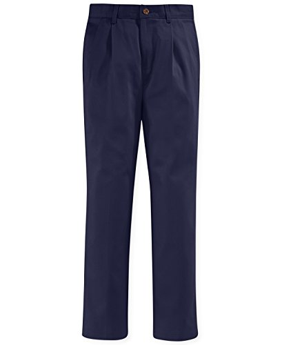 Nautica Pleated School Uniform Pants, Big Boys (Navy, 12)