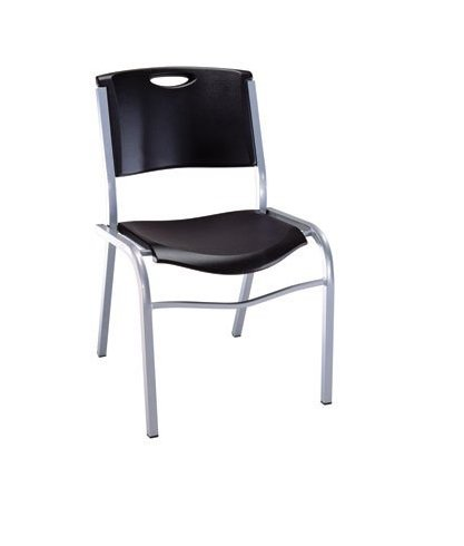 Lifetime - Commercial Stacking Chair, Black, Package of 14 Chairs by Lifetime