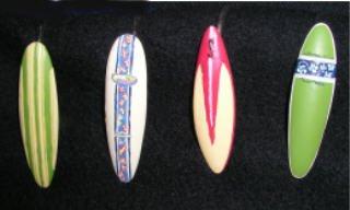 Cashco 1000 Surfboard Beach Bathroom Surfing Shower Curtain Hooks