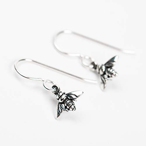 Tiny Sterling Silver Bumblebee Earrings - Amazon Exclusive