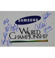 Signed Samsung World Championship 12x18 Photo by Julie Inkster, Cristie Kerr, Paula Creamer, Angela Stanford, Katherine Hull, Angela Park, Karrie Webb and Se Ri Pak. autographed - Julie Inkster Memorabilia