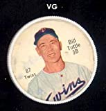 1962 salada tea coins (Baseball) card#87a Bill Tuttle (red buttons) of the Minnesota Twins Grade Very Good