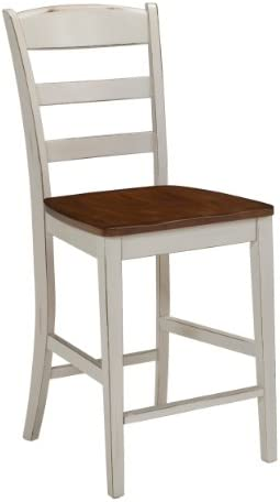 Home Styles Solid Wood Counter Bar Stool 24 inch High