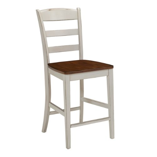 Home Styles 5020-89 Monarch Stool, Antique White Finish, 24-Inch by Home Styles
