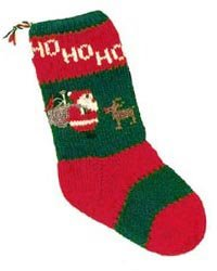 Christmas Stockings Knitting Kits; Santa and Rudolph