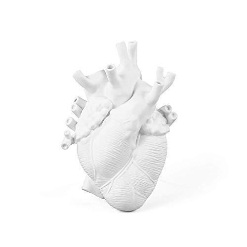 Seletti Love in Bloom Porcelain Heart Vase