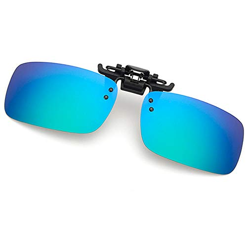 fa43cfab2a3 Clip-on Sunglasses Polarized Lens Unisex Frameless With Metal Flip Up For  Driving