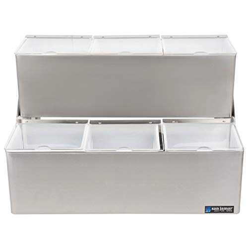 - TableTop King B6706INL EZ-Chill Stepped Condiment Center with 6 Trays