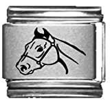 Horse Head Laser Italian Charm