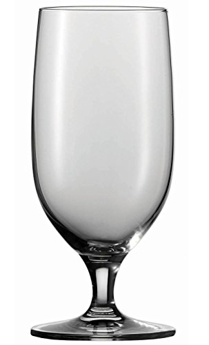 Circleware 55661 Stemmed Footed Beer Glasses, Set of 4, Kitchen Entertainment Dinnerware Drinking Glassware for Water, Wine, Juice and Bar Liquor Dining Decor Beverage Gifts, 20 oz, Bier