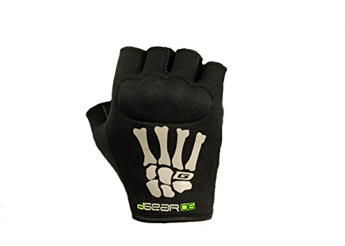 Damascus Protective Gear OG20KWML DGearOG Women's Obstacle Course Racing Half-Finger Knuckle Gloves, Black, Medium/Large