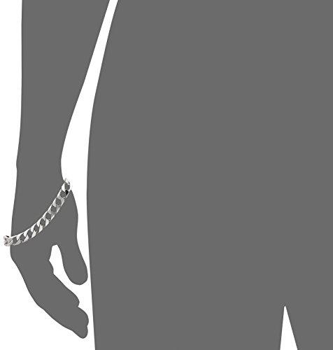 Mens-Sterling-Silver-Italian-Solid-Curb-Link-Bracelet