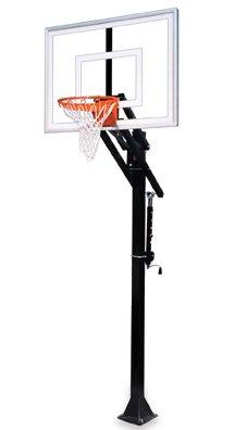 最初チームJam turbo-bp steel-glass in ground調整可能バスケットボールsystem44、ネイビーブルー B01HC0BZIQ