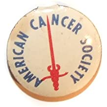 American Cancer Society Vintage Tab Back Tin Button