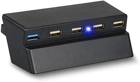 EEEKit 5 Puertos USB HUB para PS4 Slim Solo, USB 3.0/2.0 Cargador ...