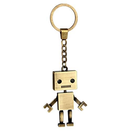 F Fityle Llavero de Metal Diseño Único (Forma Robot / Ábaco ...