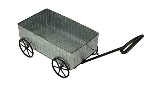 Rustic Galvanized Metal Decorative Farmhouse Wagon Planter