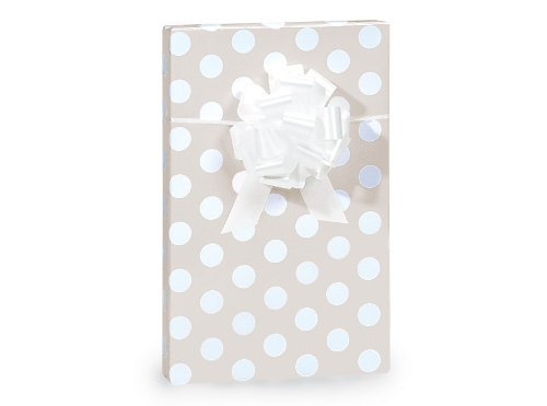 Polka Dot Wedding Gift Wrap Paper - 16 Foot Roll by Buttons Bags and Bows