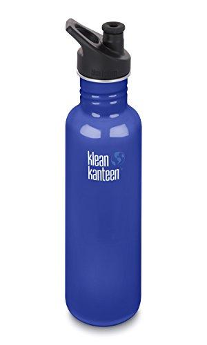 Klean Kanteen 27oz Classic Stainless Steel Water Bottle with Klean Coat, Single Wall and Leak Resistant Sport Cap 3.0 - Coastal Waters by Klean Kanteen