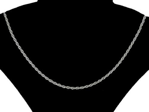 Pori Jewelers Platinum 950 Solid Diamond Cut Rope Chain Necklace -2.0mm Thick (20)