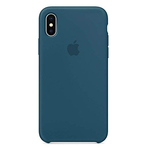 iPhone X Silicone Case, Liquid Silicone Gel Rubber Shockproof Case and Ultra Soft Microfiber Cloth Lining Cushion for Apple iPhone X/10 (Cosmo Blue)