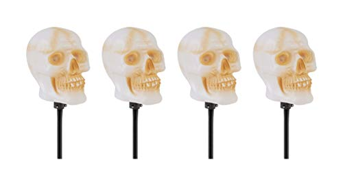 3FWW Skull Pathway Marker with LED Illumination and Halloween Sound Effects (Set of 4)]()