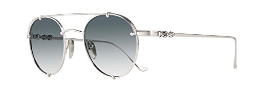 Chrome Hearts - Oralgami - Sunglasses (Brushed Silver, Blue Gradient Silver Flash - Chrome Sunglasses Hearts Online