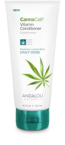 Andalou Naturals CannaCell Vitamin Conditioner, Daily Dose, 8.5 Ounce Tube, THC-Free, Sulfate-Free, Silicone-Free Botanical Hair Care