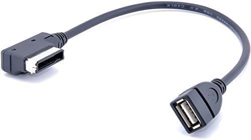 REFURBISHHOUSE 最近のケーブルアダプタMI MDI MMI アウディ3/ 4/ 5/ 6/ 8/ S4/ S6/ S8/ Q5/ Q7/ R8/ TTとフォルクスワーゲンジェッタ//GLI/パサート/CC/ティグアン/用/ USBオーディオMP3音楽インターフェース