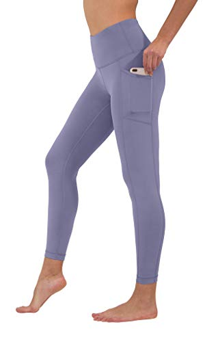 90 Degree By Reflex High Waist Tummy Control Interlink Squat Proof Ankle Length Leggings - Blue Moon - Small (Best Squats For Your Bum)